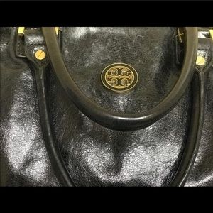 Tory Burch distressed leather satchel